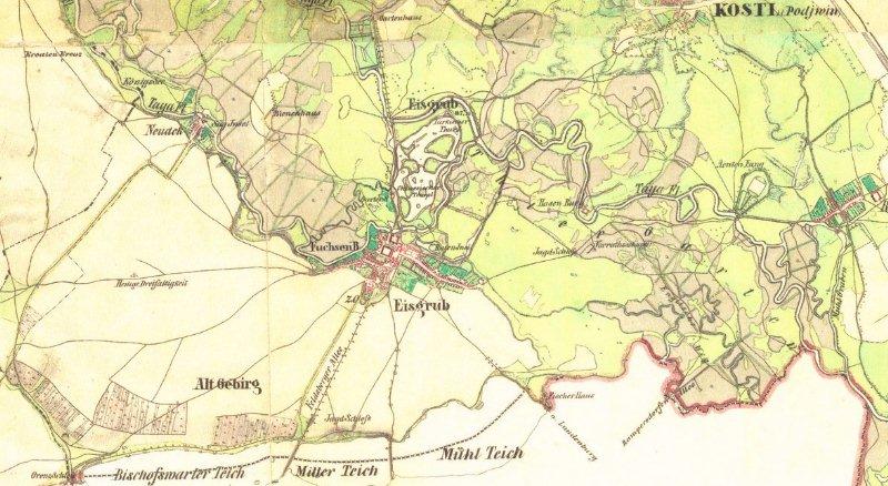 Lednice - historická mapa