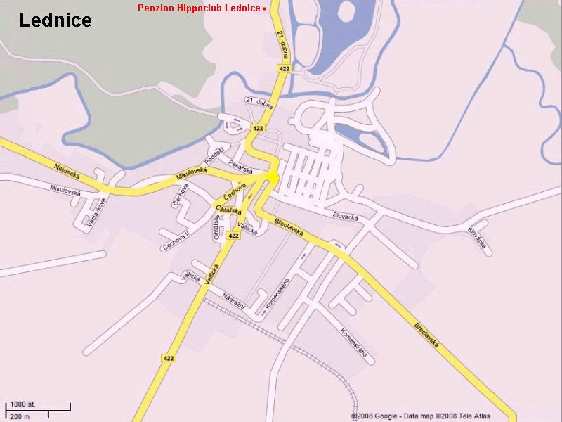 Mapa Penzion Hippoclub Lednice