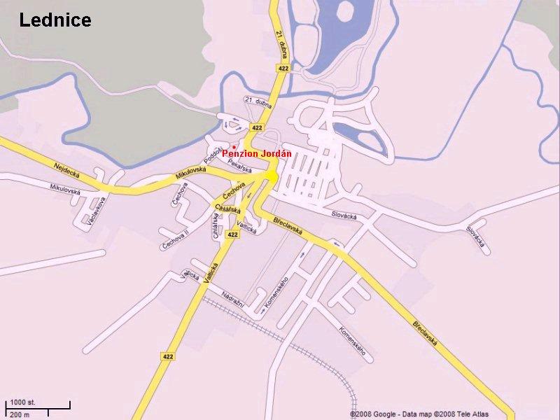 Mapa Penzion a vinný sklep Jordán