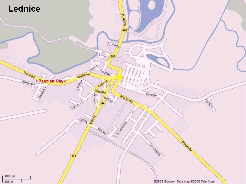 Mapa Penzion Onyx