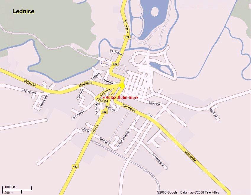 Mapa Relax Hotel Štork