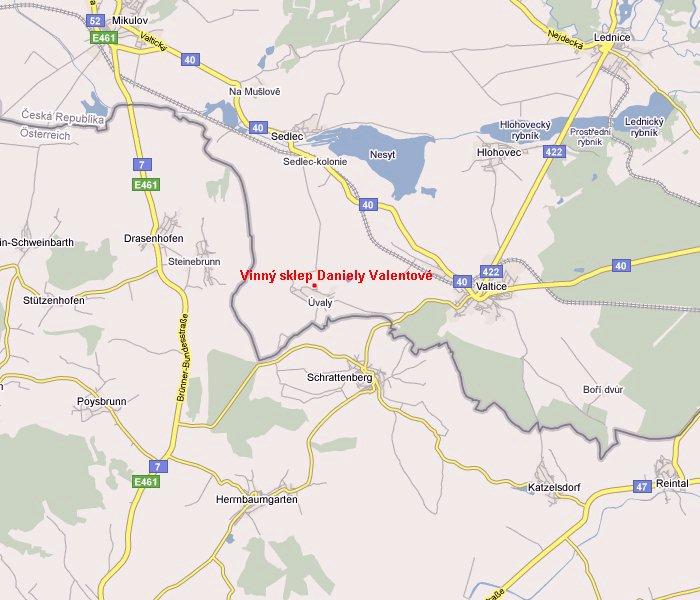Mapa Villa Daniela